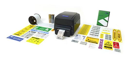 Imagen de la SMS-430 con etiquetas de distintos tamaños y resoluciones